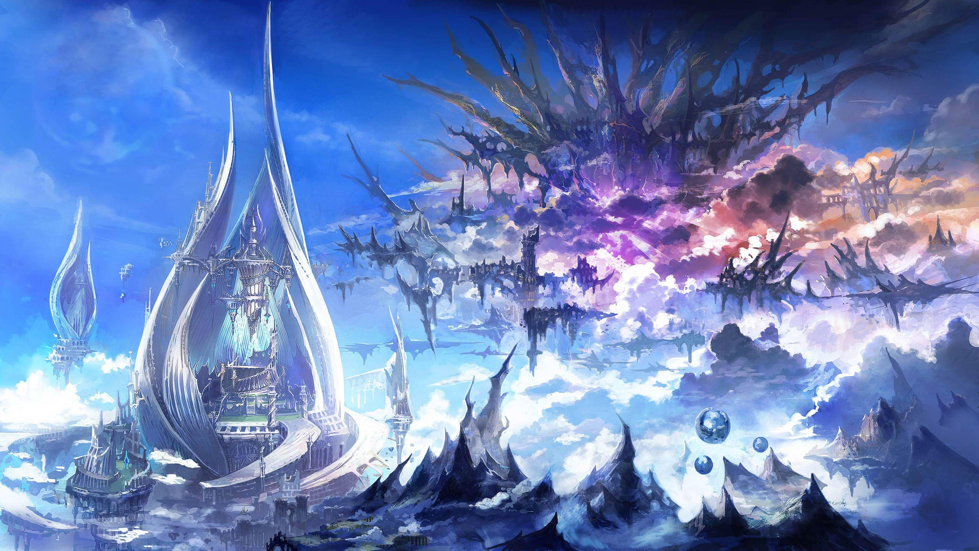 Final Fantasy 14 Heavensward Wallpapers Mobile Fantasy Landscape