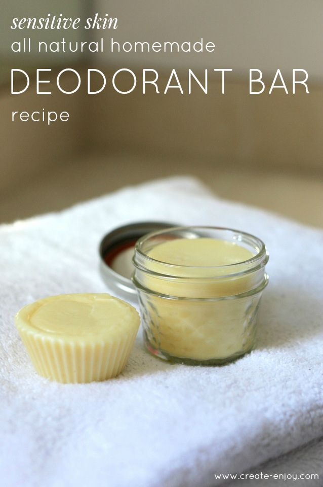 DIY All-Natural, Sensitive Skin Essential Oil Deodorant Recipe #diybeauty