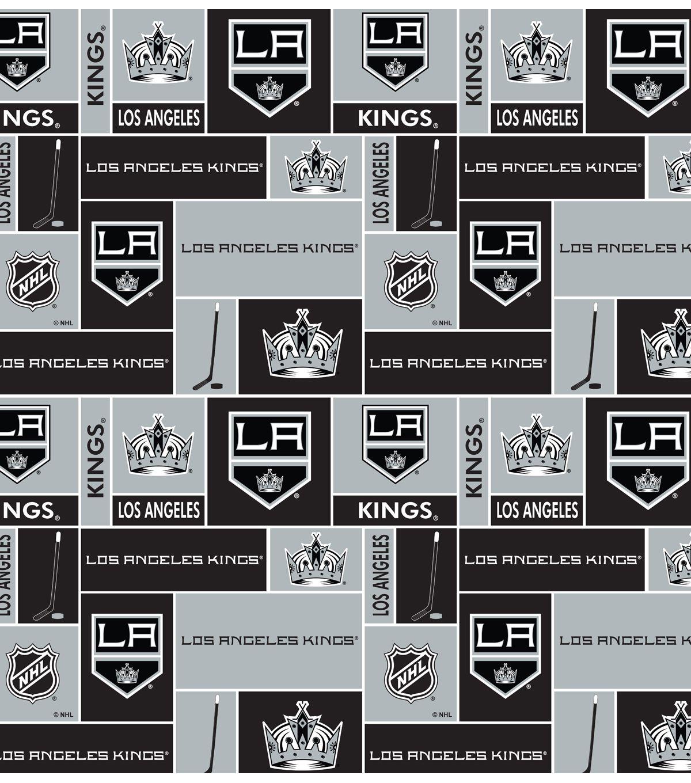 Los Angeles Kings Fleece Fabric Block Joann Los Angeles Kings Los Angeles Kings Hockey Kings Hockey