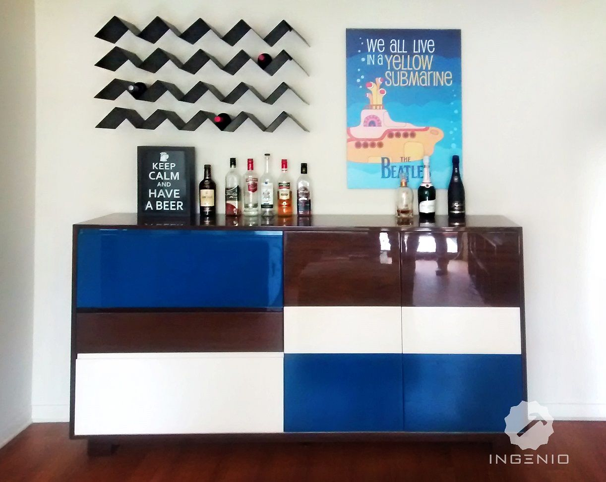 Comparto Este Mueble Bar Se Realizo En Mdf Con Acabado  # Muebles Epoca Salamanca