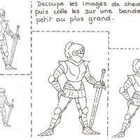 eval taille MS Voilà une fiche créée par ma collègue pour évaluer la notion de taille avec 4 chevaliers.