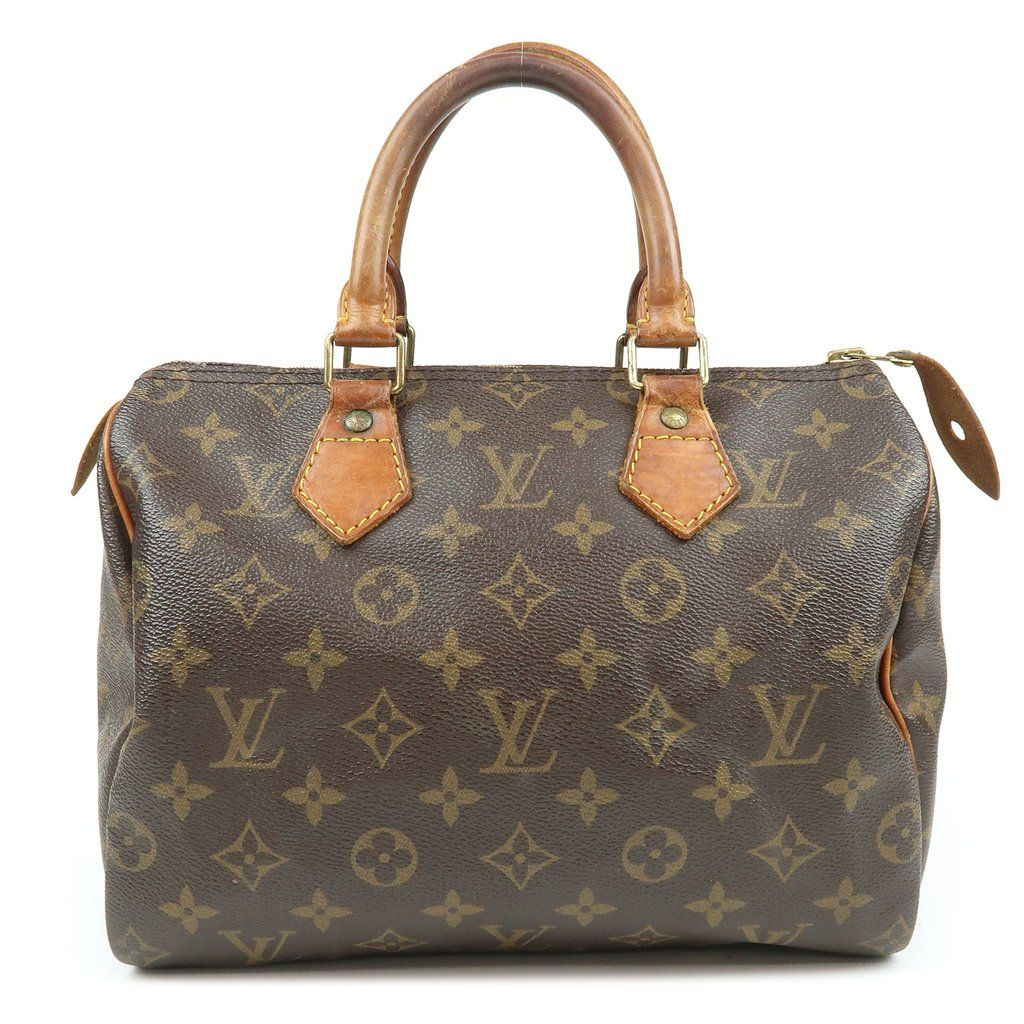 345319e3889a Authentic Louis Vuitton Monogram Speedy 25 Hand Bag Boston Bag M41528 Used  F S