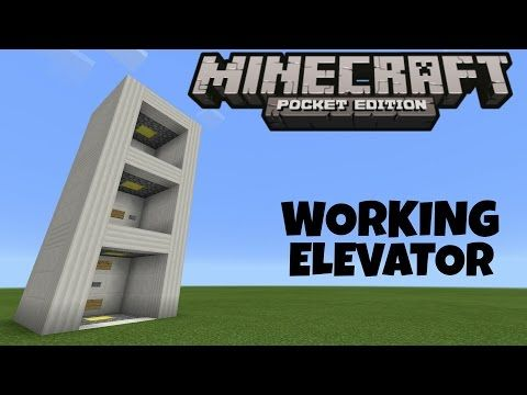 Minecraft Pe How To Build Realistic Elevator Youtube