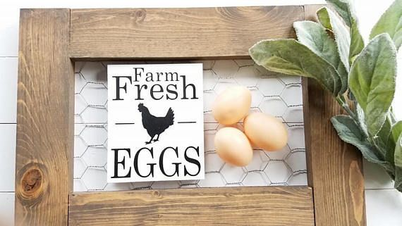 Farm Fresh Eggs sign, Eggs decor, chicken decor, kitchen magnets, farm fresh eggs magnet, farmhouse magnets,