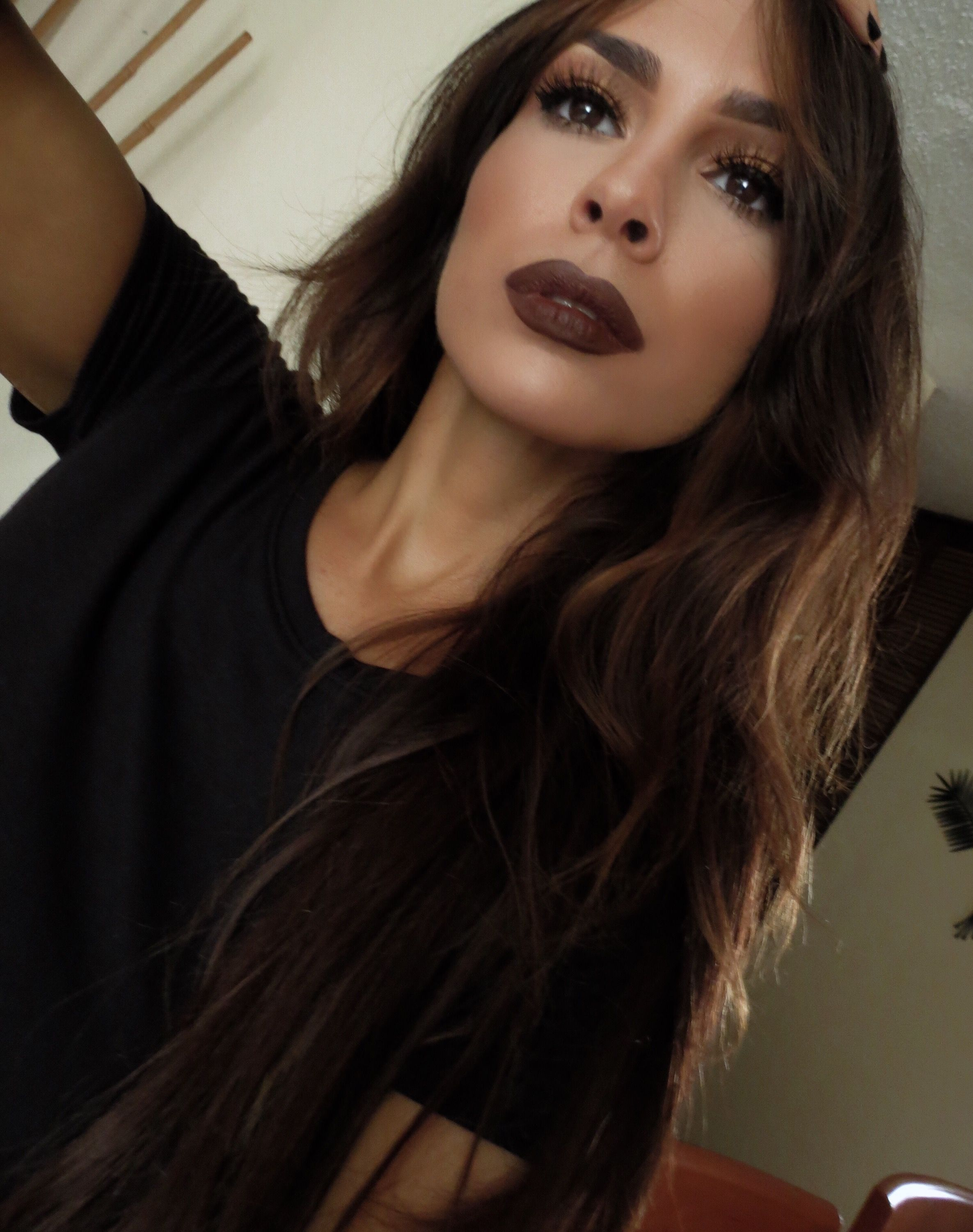 Kylie Jenner Brown Lips Makeup Look Recreated Fall Inspo The