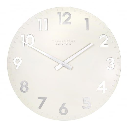 Thomas Kent Clocks Camden Wall Clock Snowberry White Large First