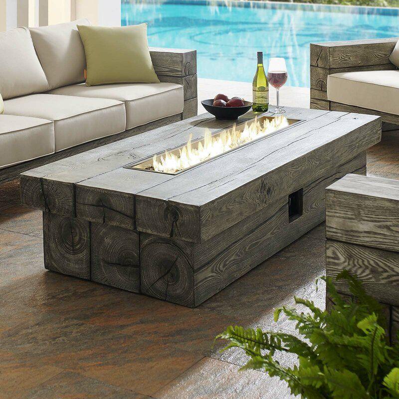everardo patio propane fire pit table