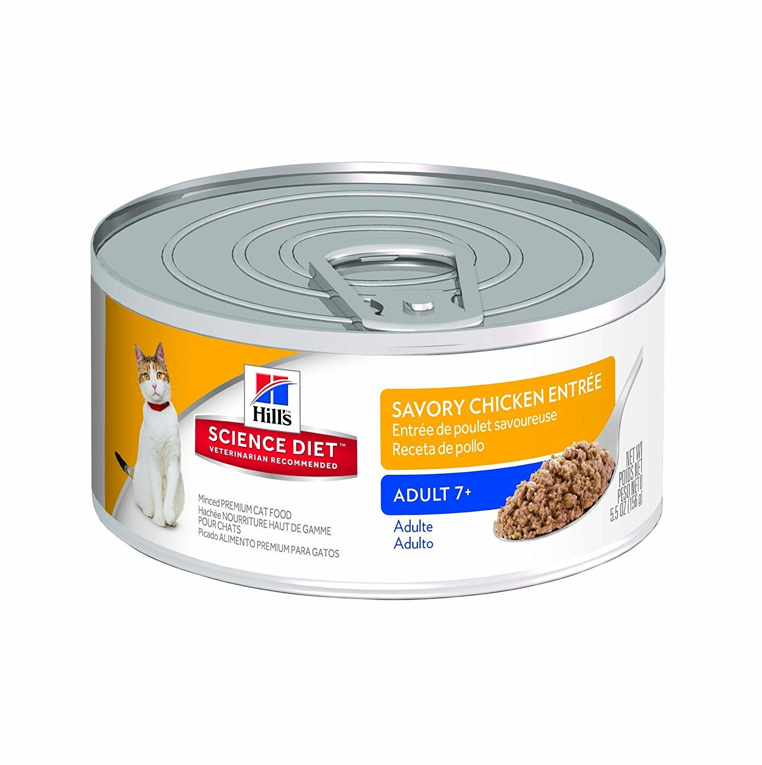Hill's Science Diet Adult 7 Minced Cat Food, 24-Pack