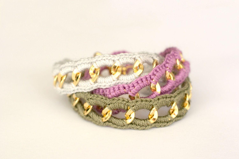 Chunky Chain & Color Bracelet Fallen Color Palette por makunaima