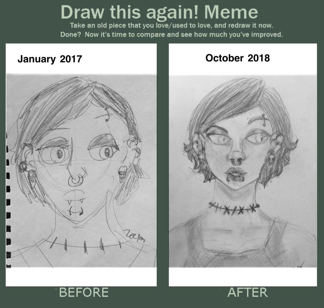 Draw This Again Art Improvement Art Jokes Artist Memes Art Style Challenge