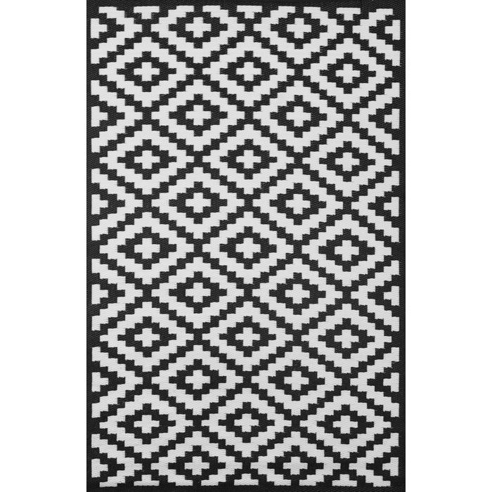 Black And White Patio Rug Part - 19: Nirvana Black And White Rug From Green Decore