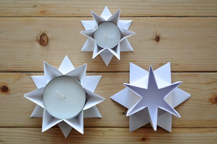 Photo of Kerzenhalter in Sternform falten #1 – fadenspiel und fingerwerk