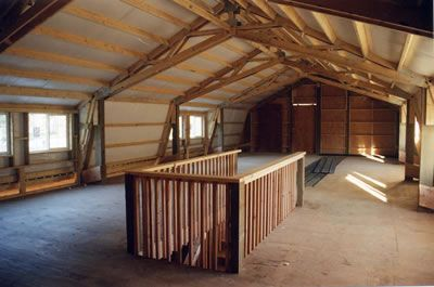 Pole Barn With Scissor Trusses