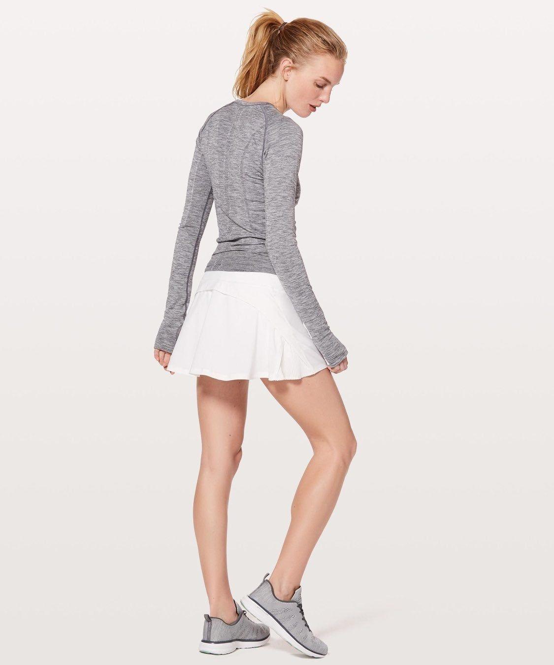 Lululemon Tennis Skirt Color White Size 4 Lululemon White Tennis Skirt Ruffle Hem Back Zipper Pocket Not Sur White Tennis Skirt Womens Skirt Tennis Skirt
