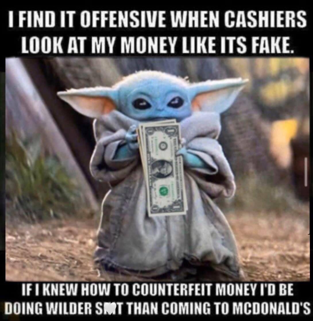 Pin By Erin Jones On Bb Yoda In 2020 Yoda Funny Yoda Meme Funny Memes