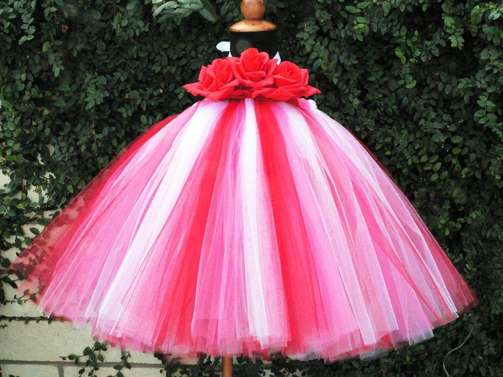 Valentines Day Tutu Dress Red White Pink By TiarasTutus 6000