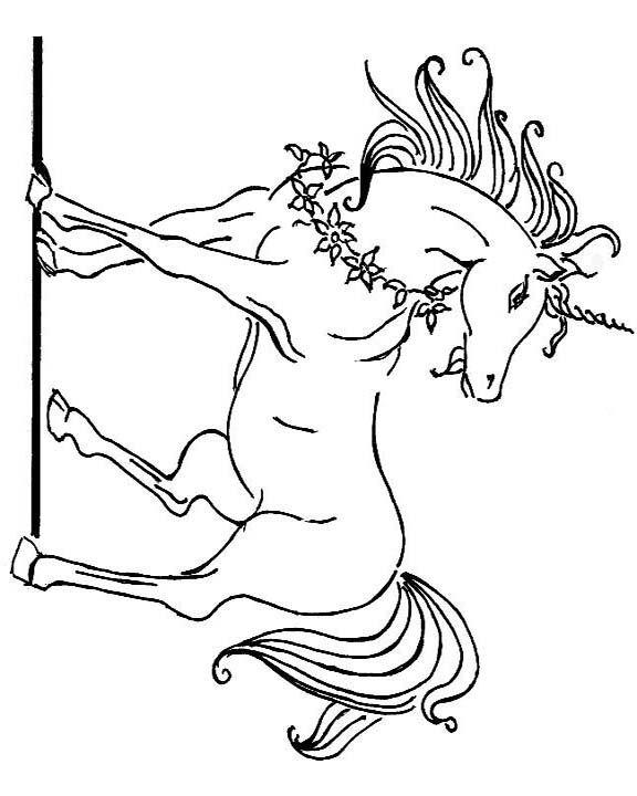 startled unicorn coloring image | Fairytale art, Unicorn ...