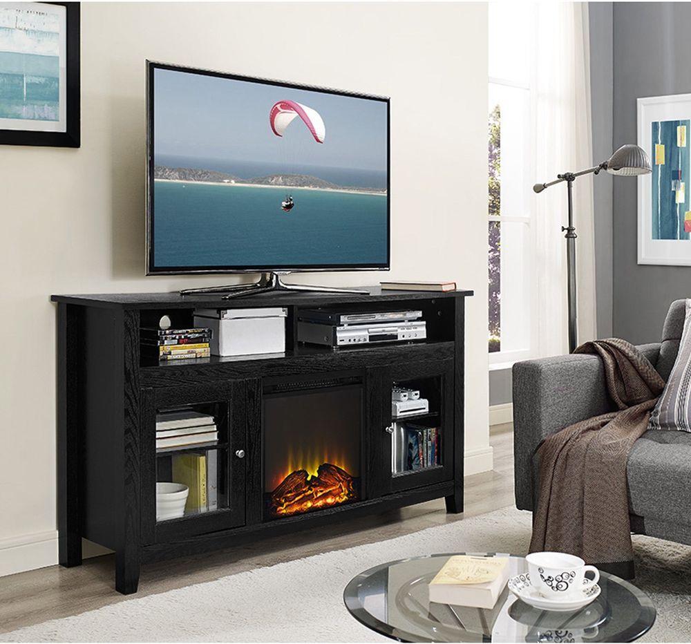 black fireplace entertainment center fujise us