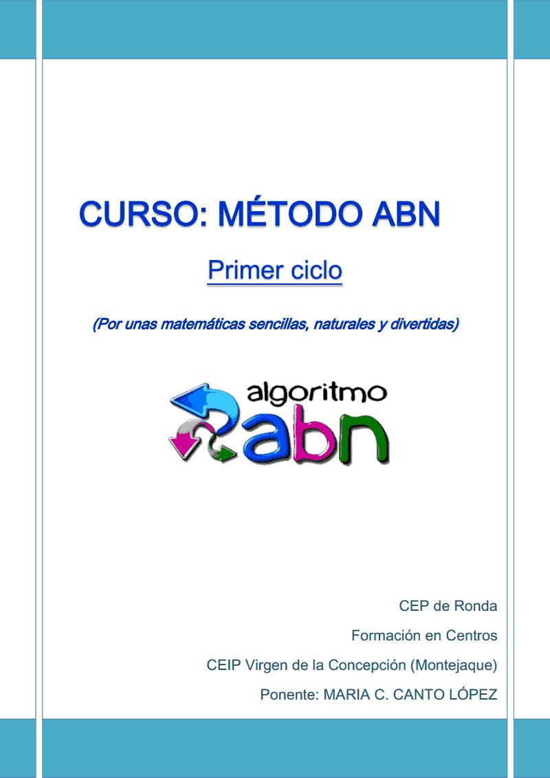 curso METODO ABN PRIMER CICLO.pdf Matematicas 3 Primaria, Abn Matematicas,  Matematicas Infantil