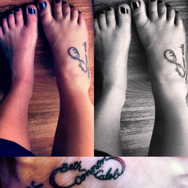 My other foot needs a tat! It feels so bare! #tattoo #firsttattoo #infinityfamilytattoo