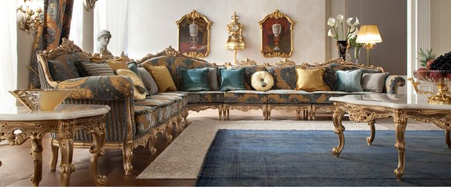 Italian Classic Furniture Living Room Modern Ideas With Fireplace Gold Plated Made In China Luxury Royal Palace
