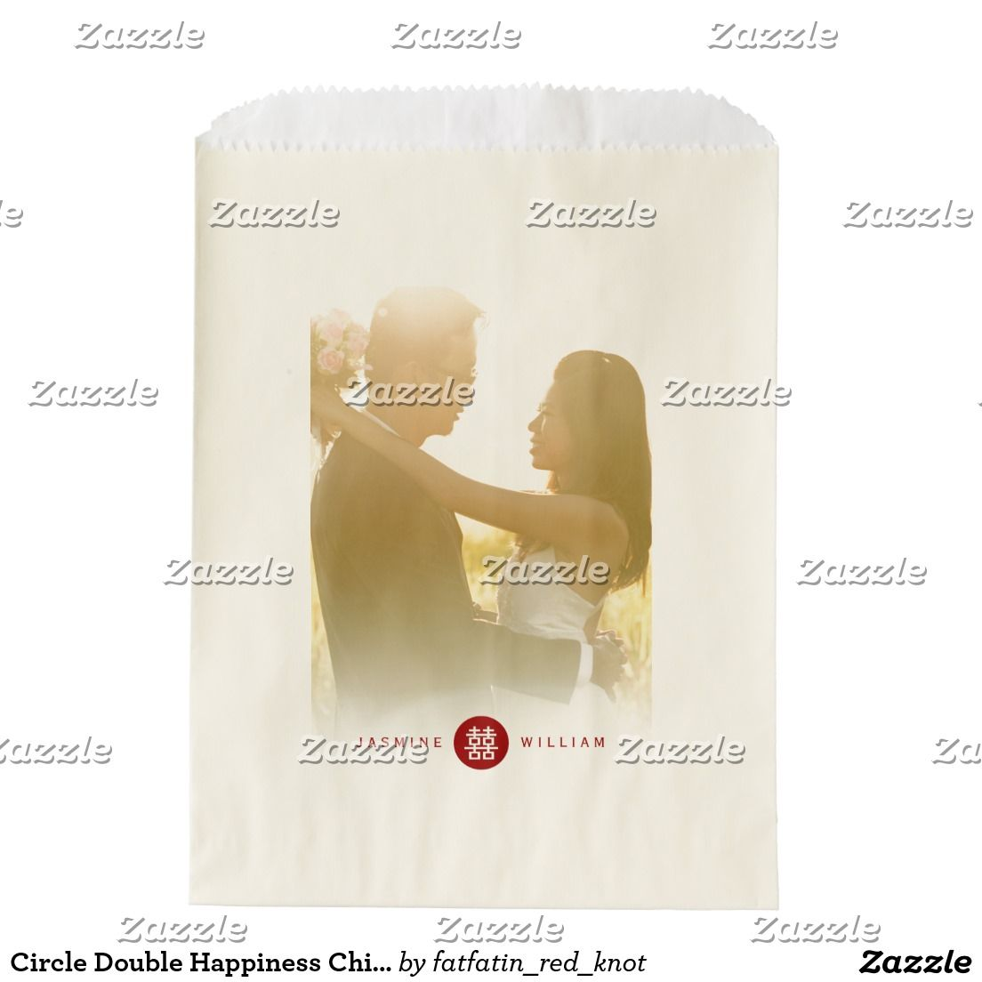 Circle Double Happiness Chinese Wedding Favor Bag | Wedding Favor ...