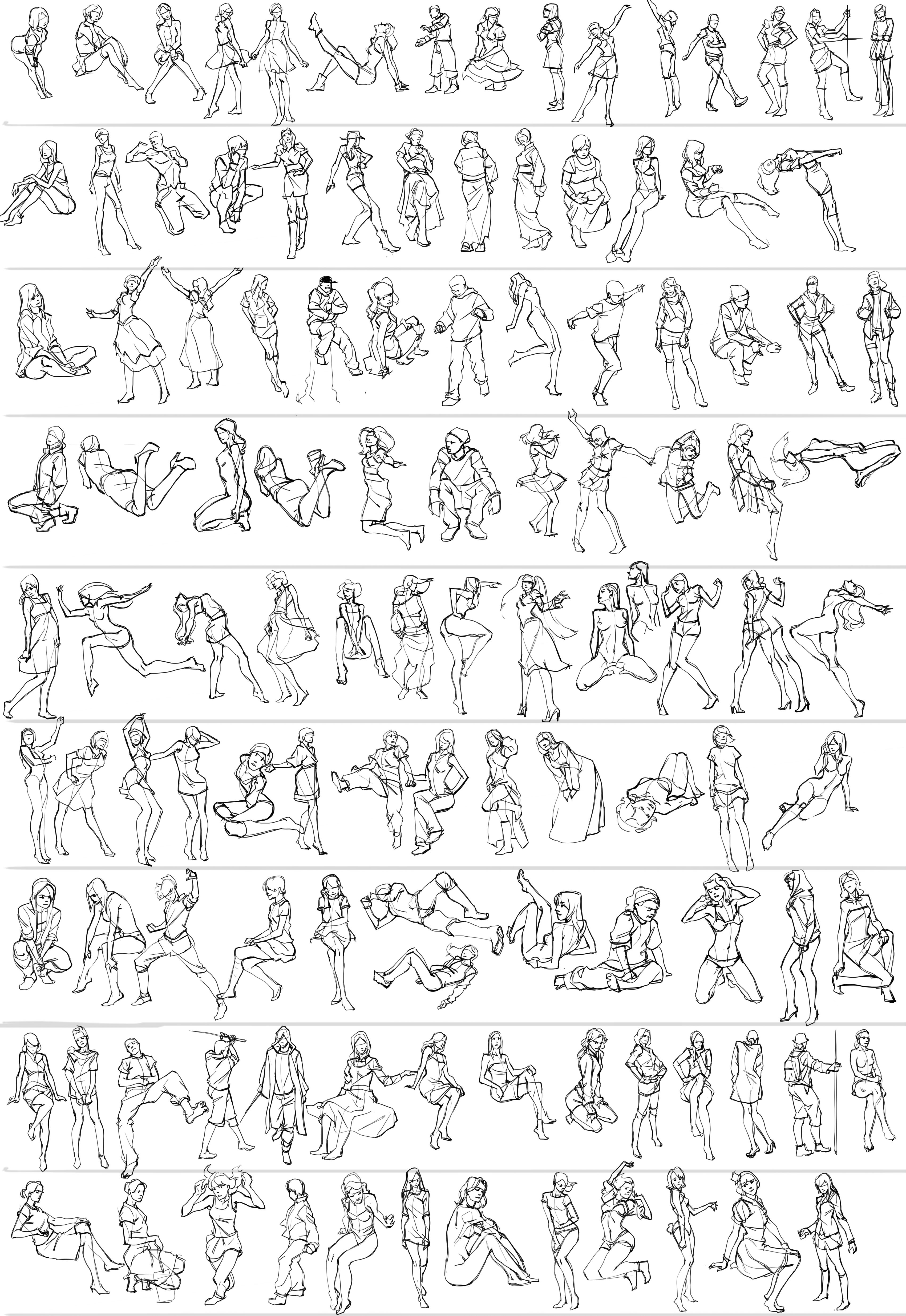 Action Scene Human Figure Drawing Design Reference Drawing Tips