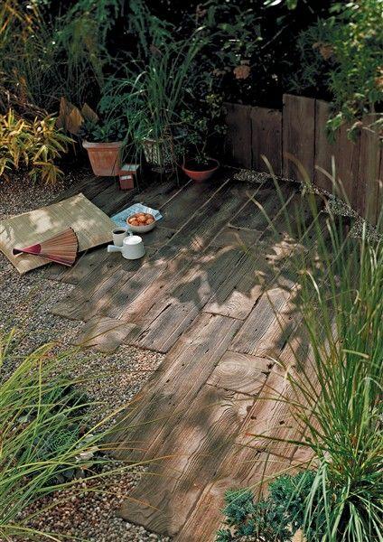 Photo of Pflasterplatten mit Holzeffekt, Holzsteinschwellen im Freien, Garten- und Terrassenplatten | Marshalls