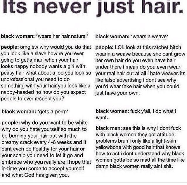 To some, it's never JUST hair