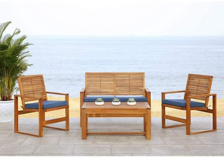 Beachcrest home black diamond 4 piece sofa set with