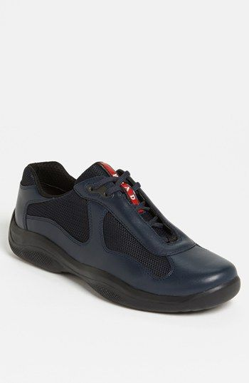 Free shipping and returns on Prada  America s Cup  Mesh   Leather Sneaker  (Men) at Nordstrom.com. Mesh insets with contrasting overlays style a sleek  ... 2c419657ea66