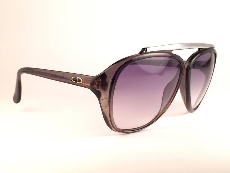 Vintage Christian Dior Monsieur 2059 11 Optyl Blue Gradient 1970 Sunglasses