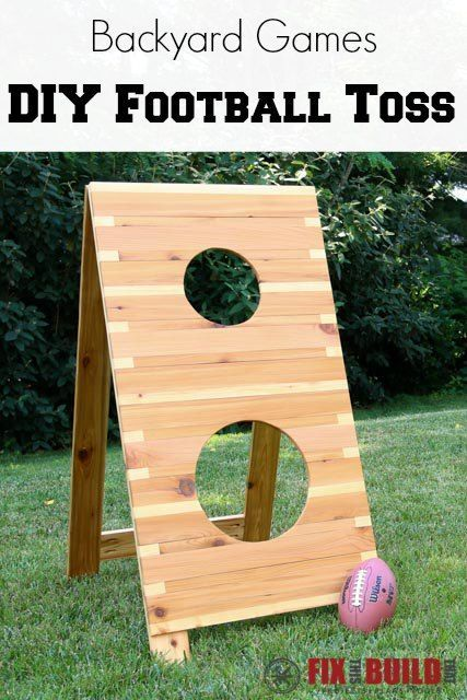 Diy Football Toss Game Backyard Games Diy Football Diy