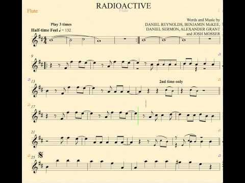 Radioactive Imagine Dragons Flute Sheet Music Chords And