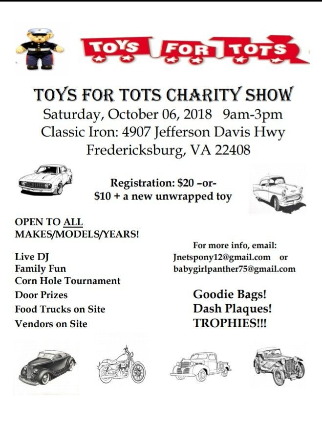 Pin By April Sparrow On Car Shows Pinterest Cars - Toys for tots car show 2018