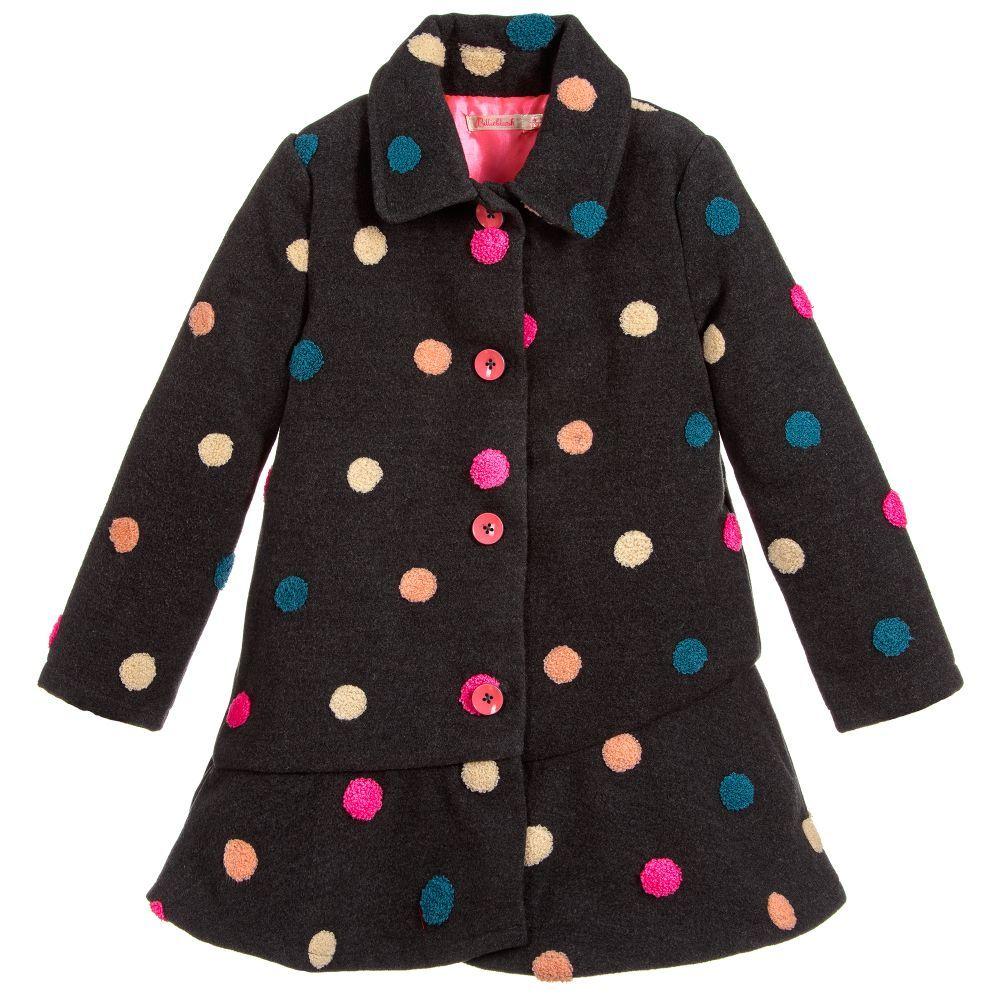 14ee170f9 Girls Grey Fleece Coat