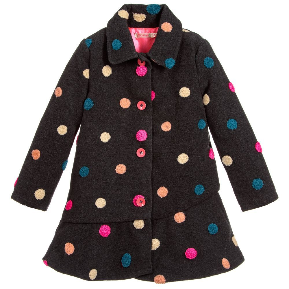 0e7abe17f Girls Grey Fleece Coat