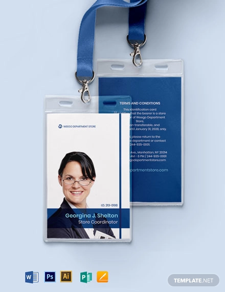 Department Store Id Card Template In 2020 Id Card Template Identity Card Design Corporate Brochure Design