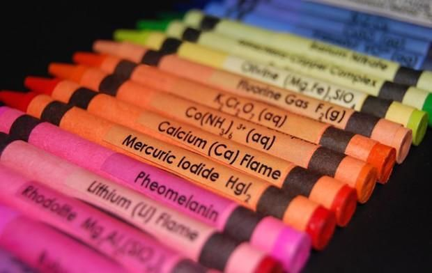 Periodic Table Crayon Covers Teach Kids Science Through Coloring