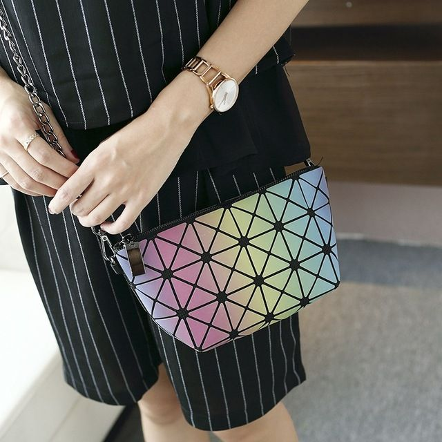 Bao bao Luminous Rainbow Noctilucent Geometric New Handbag