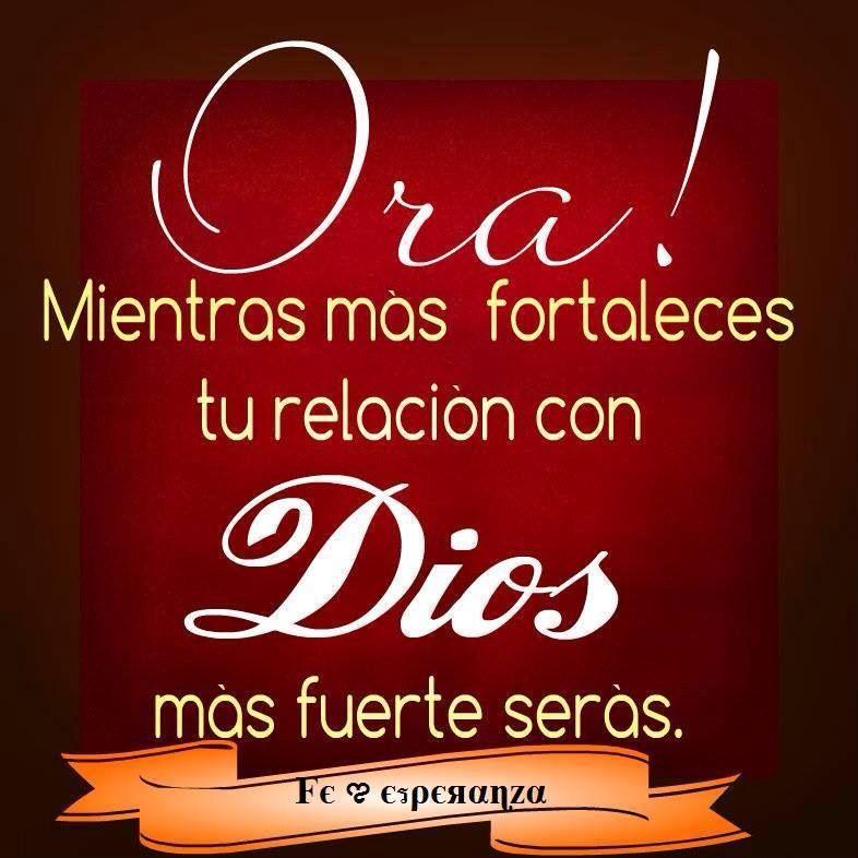 La relación con Dios es la relación más importante de ti vida!