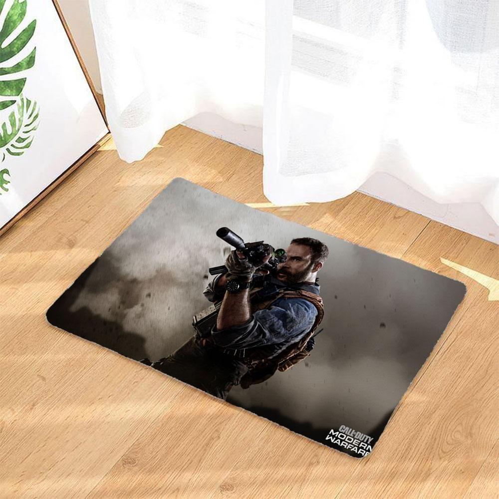 Call Of Duty Modern Warfare Caractere Sol Tapis Tapis De Sol Anti Slip Flanelle Entree Paillassons Tapis De Porte Tapis De Sol Tapis De Porte Paillassons