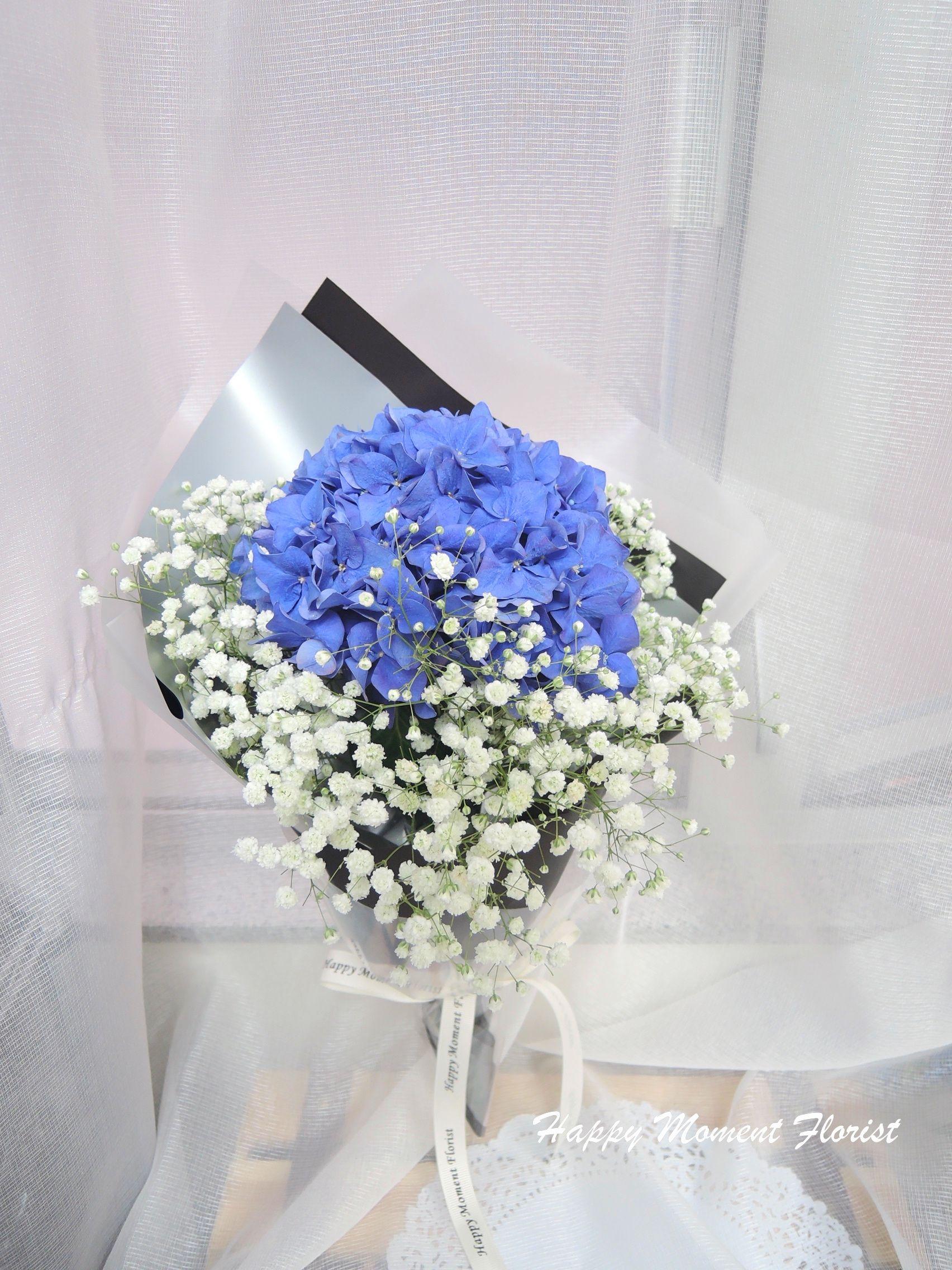 荷蘭繡球+滿天星小花束 | Hand bouquet