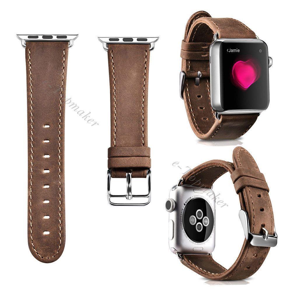Genuine Leather Band Sport Wrist Watch Strap Belt For Iwatch Apple Watch 38/42Mm