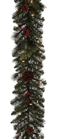 Noma Preston Pre Lit Berries And Pinecones Garland 9 Ft Canadian Tire Pinecone Garland Garland Pine Cones