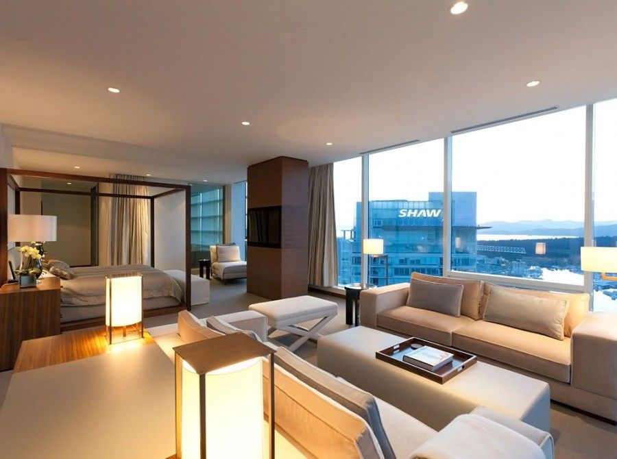 Penthouse Apartment Master Bedroom With Outdoor View