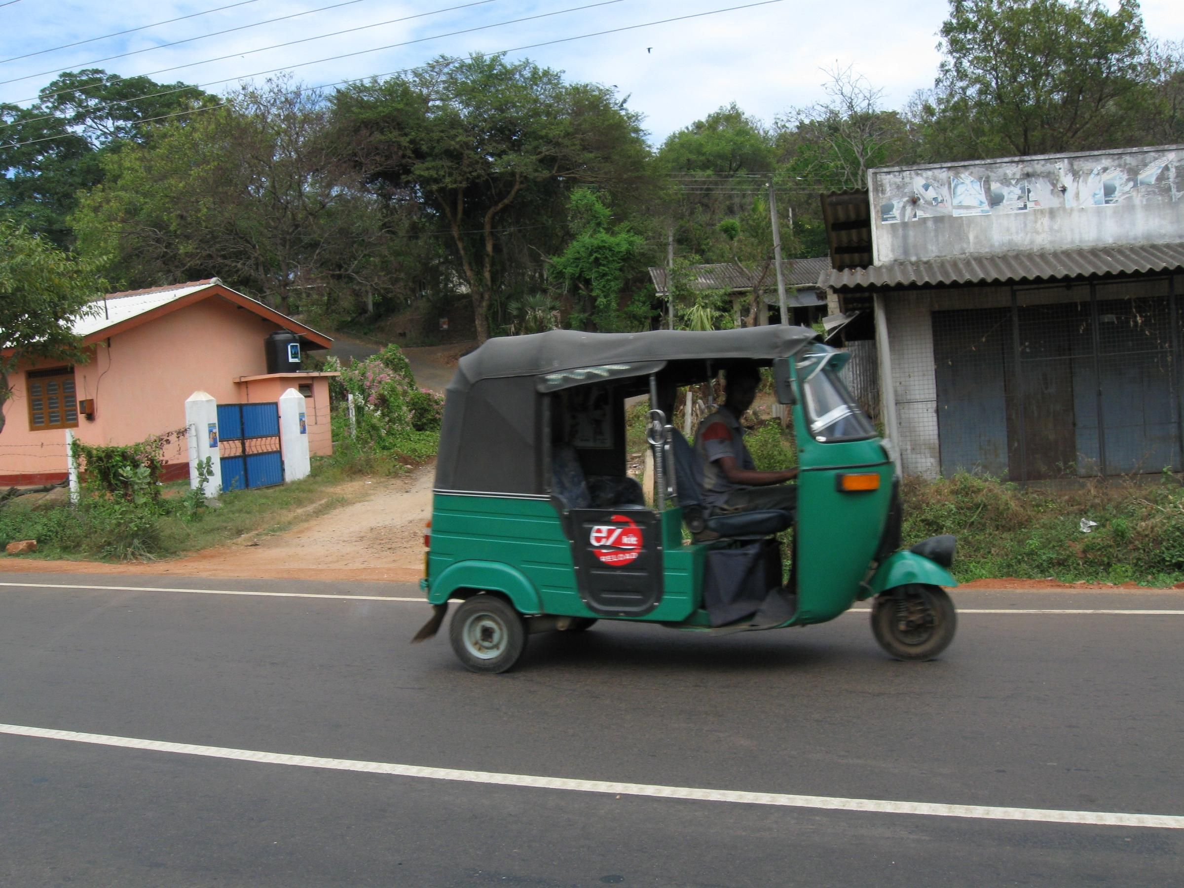 A Tuk-Tuk taxi in Sri Lanka next time i will walk