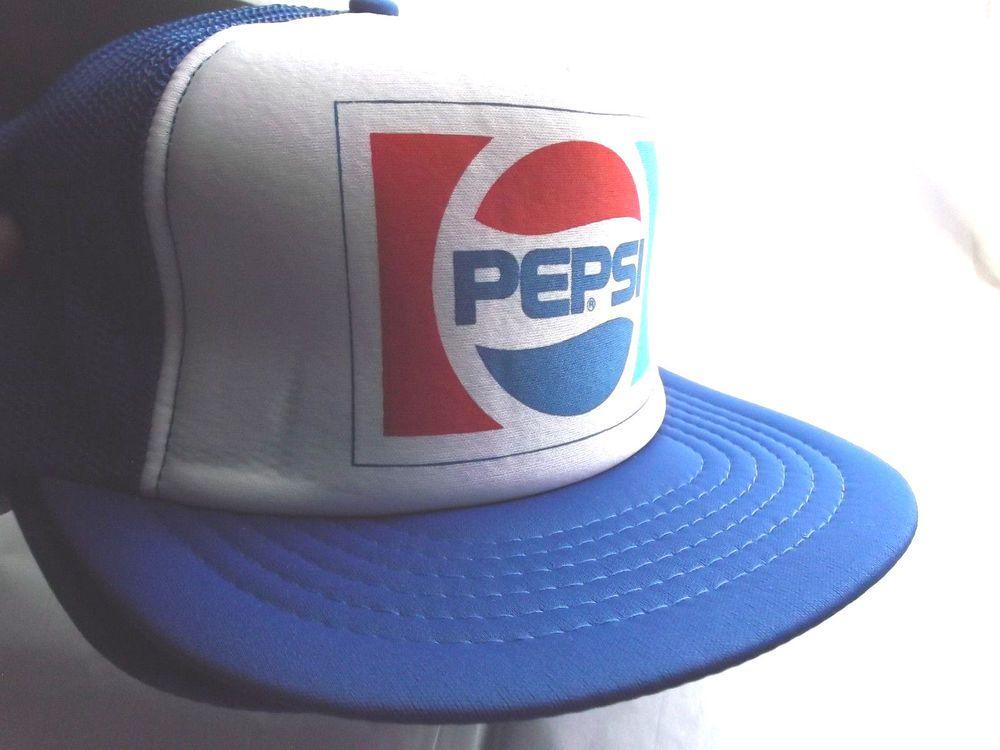 Pepsi Trucker Hat mesh hat snapback hat RWB new adjustable vintage style  1980 s  Truckerhat  TruckerHat c4d1a1afc6f5