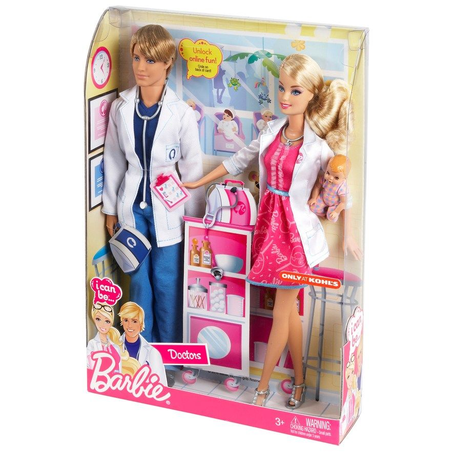 Barbie I Can Be A Doctor Working Together Doll Set By Mattel