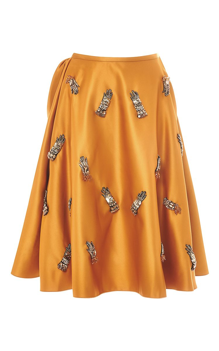 db479df25b Duchesse Skirt With Glove Embellishment by Rochas for Preorder on Moda  Operandi